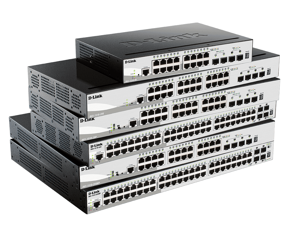 DGS-1510 Series Gigabit Stackable Smart Managed Switches with 10G Uplinks