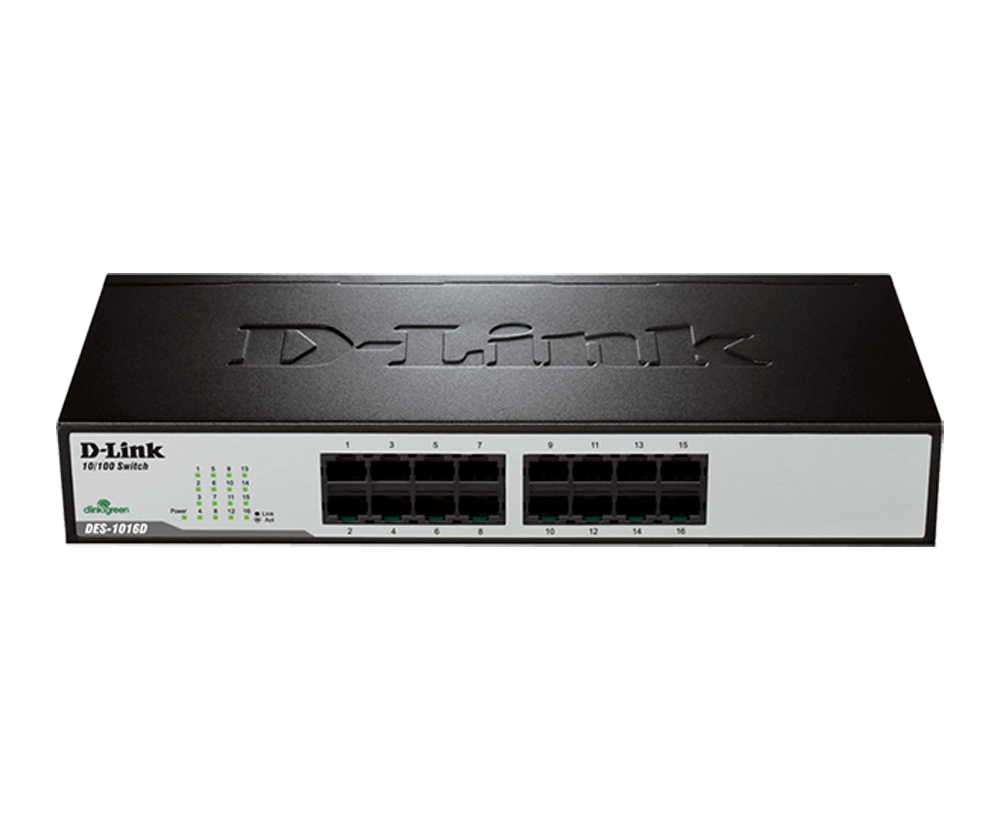DES-1016D 16‑Port Fast Ethernet Unmanaged Switch