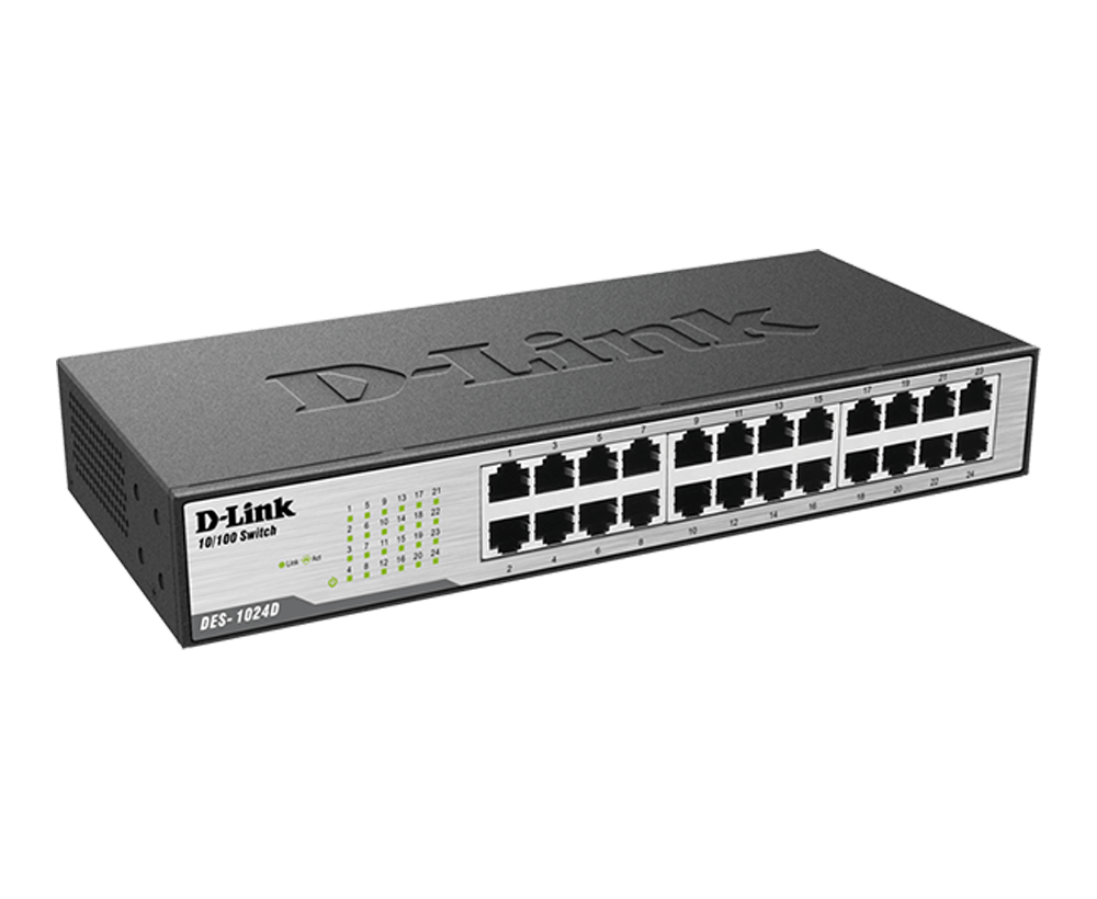 DES-1024D 24‑Port Fast Ethernet Unmanaged Switch